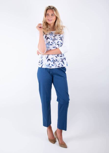 Jane Young Whyci 3/4 floral top