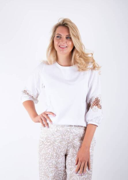 Jane Young Whyci White top
