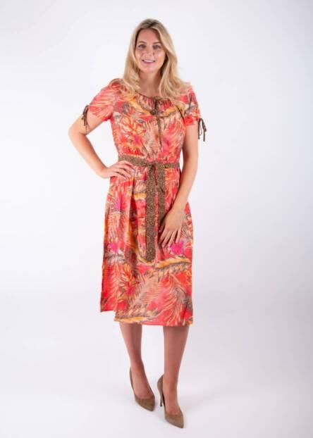 Jane-Young-Betty-Barclay-orange-animal-dress