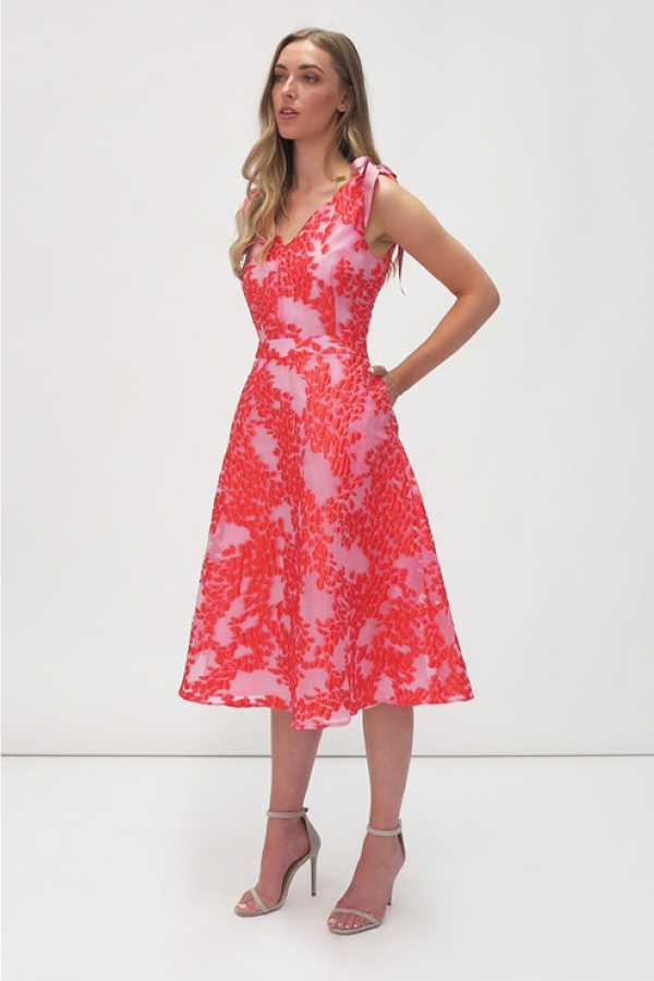 Jane-Young-Wedding-guest FGee Red Dress