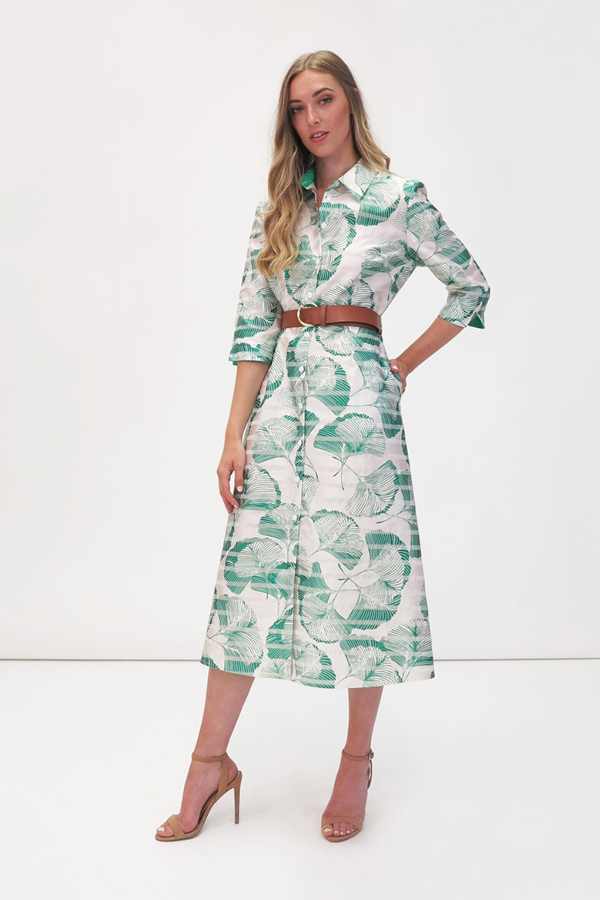 Jane-Young-Wedding-guest FGee Shirt Dress
