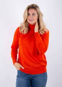 Jane Young Gant red turtle neck