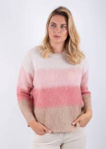 Jane Young Luisa Cerano Pink Striped jumper