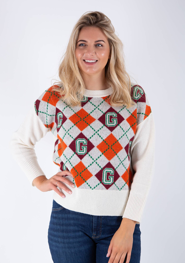 Gant argyle knit sweater