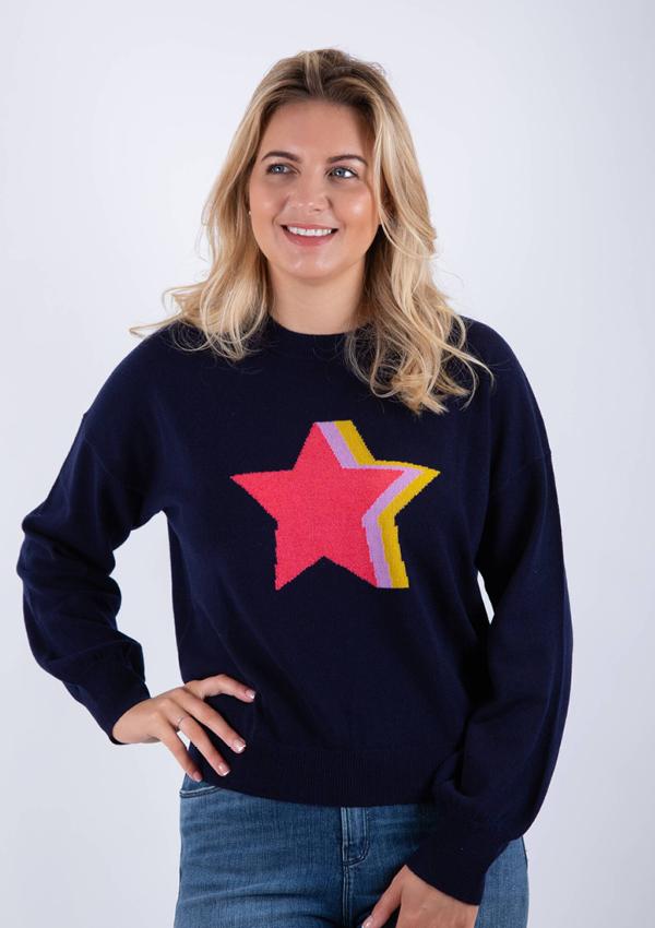 Cocoa Cashmere star print