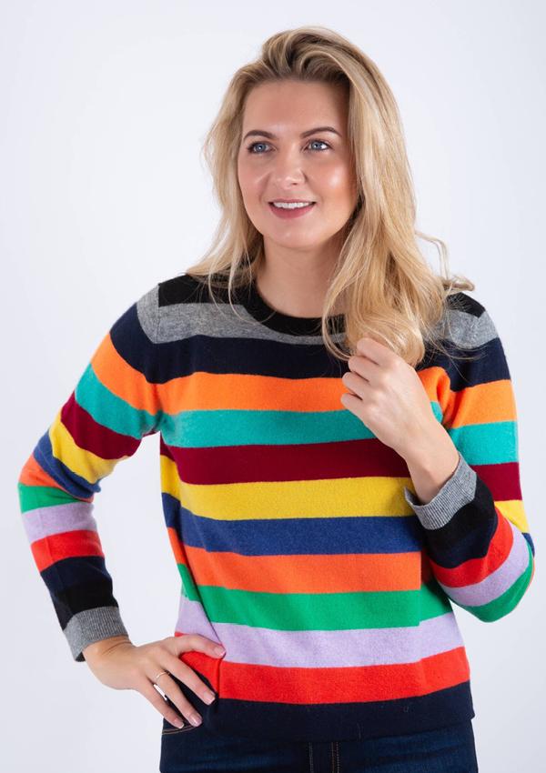 Jumper 1234 multi stripe sweater